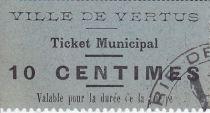 Francia 10 centimes Vertus Ticket Municipal