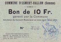 Francia 10 F Esmery-Hallon n° 310
