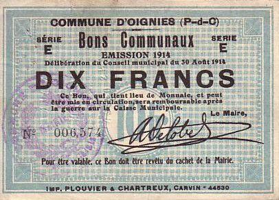 Francia 10 F Oignies