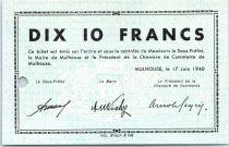 Francia 10 Francs , Mulhouse Chambre de Commerce, Série C, 1 Perforation - Annulation ?