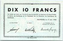 Francia 10 Francs , Mulhouse Chambre de Commerce, Série C