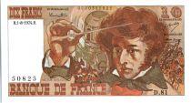 Francia 10 Francs Berlioz - 01-08-1974 Serial D.81