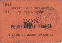 Francia 10 Francs Carcassonne Bon de 10 francs de viande