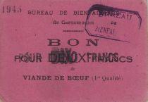 Francia 10 Francs Carcassonne Bon pour 10 Frs de viande
