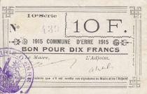 Francia 10 Francs Erre City - 1915