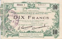 Francia 10 Francs Fourmies City - 1916