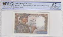 Francia 10 Francs Miner - 25-03-1943 Serial P.53   -  PCGS 67 OPQ