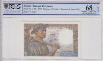 Francia 10 Francs Miner - 25-03-1943 Serial P.53   -  PCGS 68 OPQ