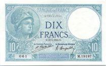Francia 10 Francs Minerva - 29-05-1925 Serial M.19197