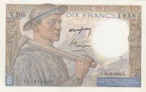 Francia 10 Francs Mineur - 30-06-1949 - Serial V.205