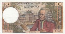 Francia 10 Francs Voltaire - 07-08-1969 - Serial E.506