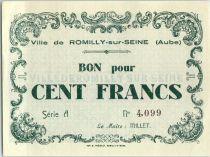 Francia 100 F , Romilly-sur-Seine Serial A