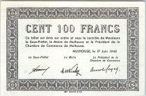 Francia 100 Francs , Mulhouse Chambre de Commerce, Série C