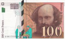 Francia 100 Francs Cézanne - 1998 -  Margin moved