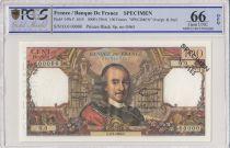 Francia 100 Francs Corneille - Specimen - 1964 - PCGS 66 OPQ