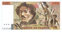 Francia 100 Francs Delacroix - 1984 Serial B.89