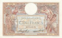 Francia 100 Francs Women and childs - 16-08-1934 Serial M.45577