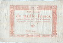 Francia 1000 Francs -  18 Nivôse l\'An 3 - Sign. Bot - Serial 10805