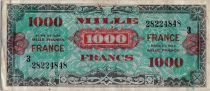 Francia 1000 Francs Allied Military Currency (France) - 1945 - Serial 3