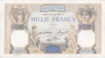 Francia 1000 Francs Ceres and Mercury -  26/08/1937 Serial D3024