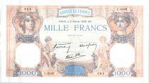Francia 1000 Francs Ceres and Mercury - 02-02-1939 Serial C.6182-664