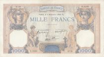 Francia 1000 Francs Ceres and Mercury - 03-11-1938 Serial E.5131