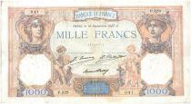 Francia 1000 Francs Ceres and Mercury - 10/09/1927 Serial P528