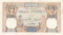 Francia 1000 Francs Ceres and Mercury - 11-02-1937 Serial L.2725