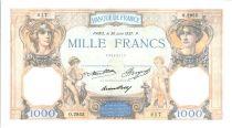 Francia 1000 Francs Ceres and Mercury - 1937 - AU