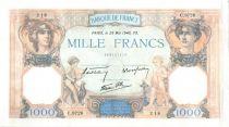 Francia 1000 Francs Ceres and Mercury - 23-05-1940 Serial C.9726-218