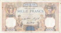 Francia 1000 Francs Ceres and Mercury - 29-04-1937 - Serial H.2843