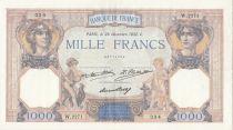 Francia 1000 Francs Ceres and Mercury - 29-12-1932 Serial W.2271