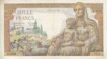 Francia 1000 Francs Demeter - 28-10-1943 Serie Z.9529