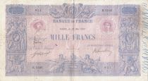 Francia 1000 Francs Pink and blue - 25-05-1917 - Serial H.1045