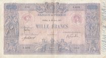 Francia 1000 Francs Pink and blue - 30-06-1917 - Serial Z.1075