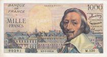 Francia 1000 Francs Richelieu - 03-03-1955 Serial M.120