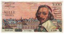 Francia 1000 Francs Richelieu - 1956-03-01 Serial U.238