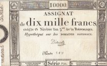 Francia 10000 Francs 18 Nivose Year III - 7.1.1795 - Sign. D\'Osseville