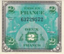 Francia 2 Francs Allied Military Currency - Flag - 1944 without serial 63729572