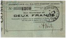 Francia 2 Francs Saint-Simon City - 1914