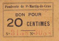 Francia 20 cent. Saint-Martin-de-Crau Poudrerie