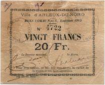 Francia 20 Francs Arleux City - 1915