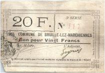 Francia 20 Francs Bruille-Lez-Marchiennes City
