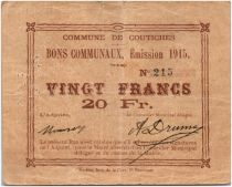 Francia 20 Francs Coutiches City - 1915