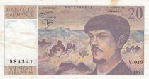 Francia 20 Francs Debussy - 1987 Serial V.019