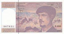 Francia 20 Francs Debussy - 1997 - Serial P.050