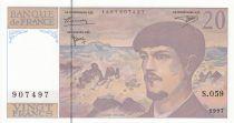 Francia 20 Francs Debussy - 1997 - Serial S.059