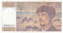Francia 20 Francs Debussy - O.020 - 1987