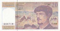 Francia 20 Francs Debussy - T.039 - 1993