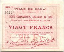 Francia 20 Francs Douai City - 1914